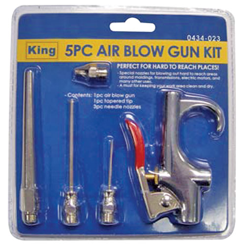 Includes 1 blow gun 1 tapered tip and 3 needle nozzles