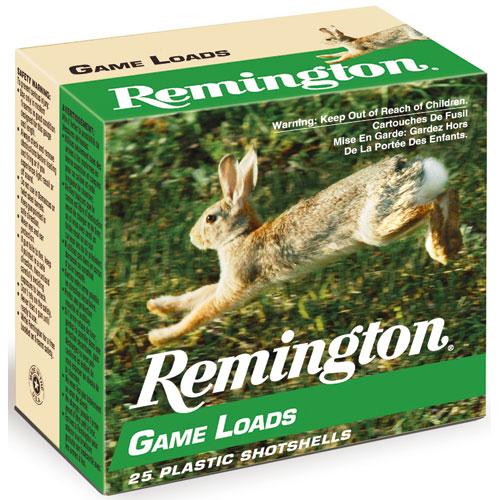 25 Ct Remington 12 Gauge Game Loads Shotgun Ammo