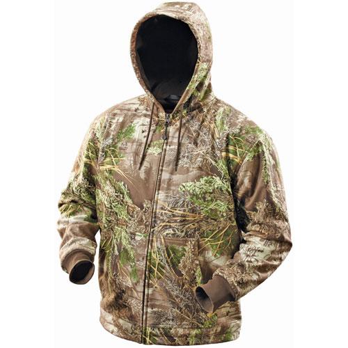 milwaukee tool m12 cordless realtree max 1 camo heated hoodie kit