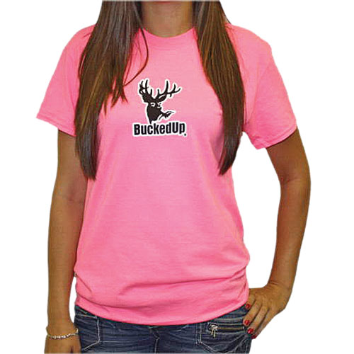 buckedup womens safety pink tee