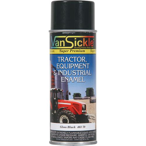 12 Oz Gloss Black Enamel Equipment Spray Paint