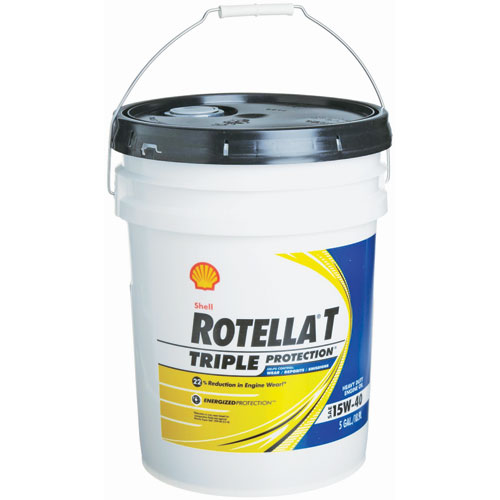 5 gal rotella t 15w40 hd engine oil for Gallon of motor oil