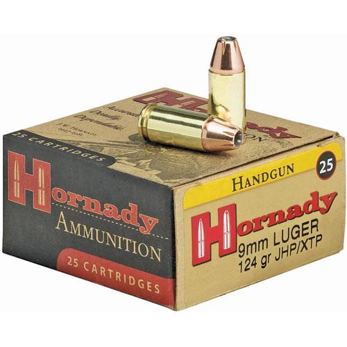 9mm Luger 124 GR JHP/XTP Handgun Ammo