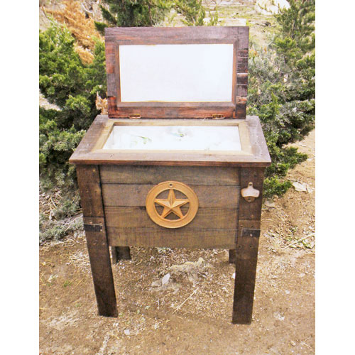 - Wooden Patio Cooler Box