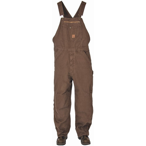 Quilt Lined Bib Overall Bark