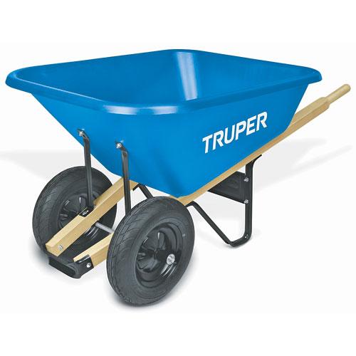 8 Cu  Ft  Truper Dual Wheel Poly Wheelbarrow